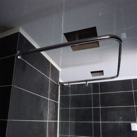 right angle shower curtain rod metal shower rod promotion online shopping for promotional