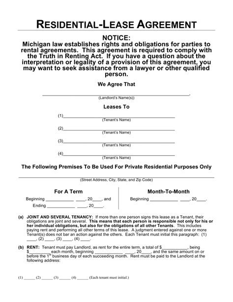 Editable Lease Agreement Template Excellent Editable Rental - Editable lease agreement template
