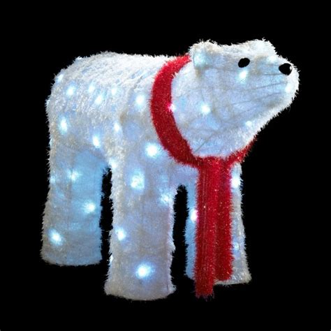 led large polar bear from b q outdoor christmas lighting