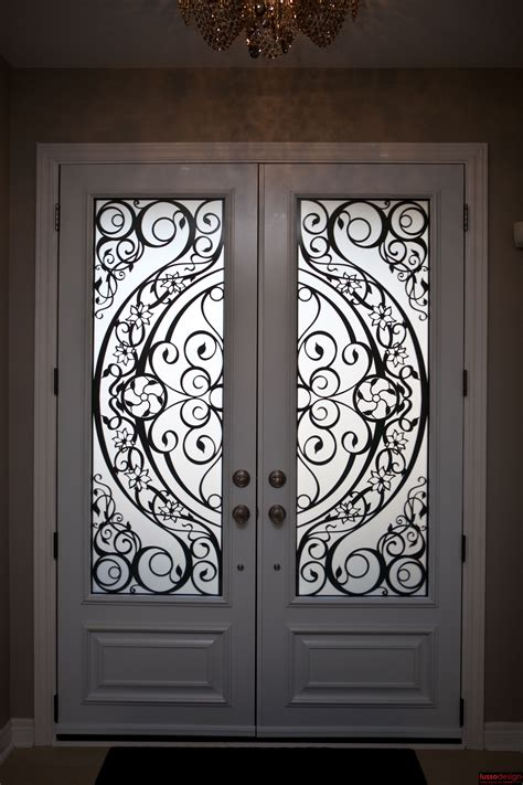 metal door designs 8ft double steel door with 2 contemporary design lasercut