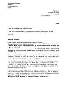 sle cover letter exemple de lettre de r 233 clamation