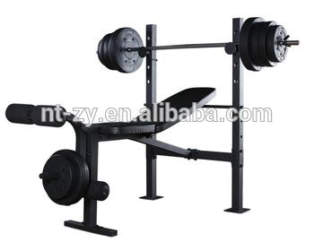 buy bench press with weights standard bench press with 80lbs of weight plates home gym