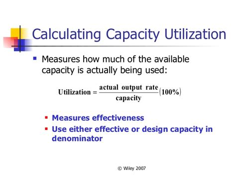 design effective and actual capacity locating facilities