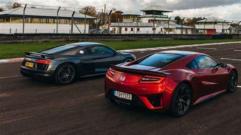 Nsx Vs R8 by Honda Nsx Vs Audi R8 V10 Plus Sci Fi Vs School
