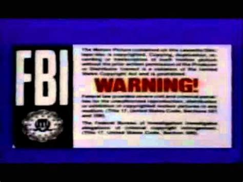 Mills Gets A Warning by New Line Home 1991 Still With Shv Fbi Warning Cthv