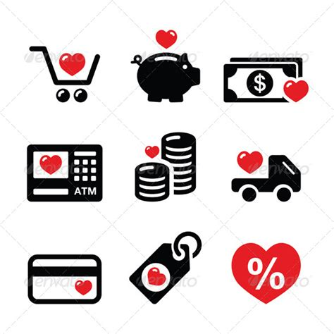 image gallery i love shopping icons i love shopping icons graphicriver