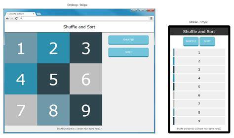 javascript button layout rearrange divs randomly using javascript or jquery