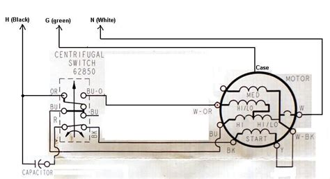 washing machine motor capacitor wiring diagram wiring