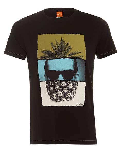 T Shirt Spence Air Pineapple hugo orange mens towney2 pineapple print t shirt black