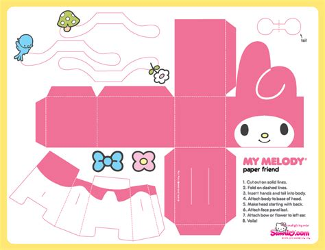 Hello Papercraft Template - kawaii box papercraft templates pictures to pin on