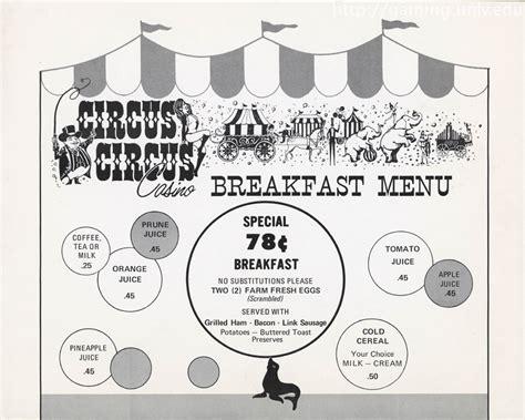 circus circus buffet menu circus circus menu