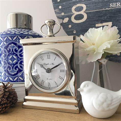 small bedside desk silver shelf clock small mantle bedside desk
