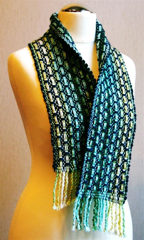 handwoven scarf unique handmade scarves woven by delekselja