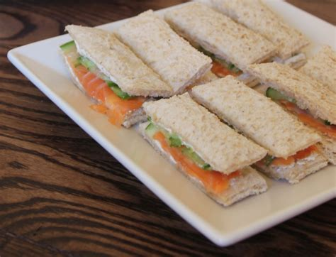 smoked salmon and cucumber finger sandwiches the modern home economist
