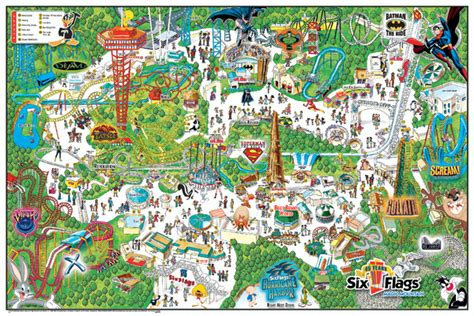 map of six flags theme parks los angeles map