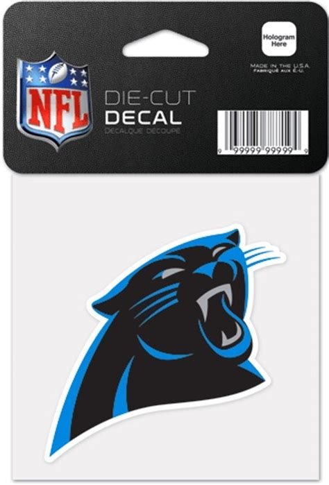 panthers colors nfl carolina panthers nfl football color panther 4x4 die cut decal