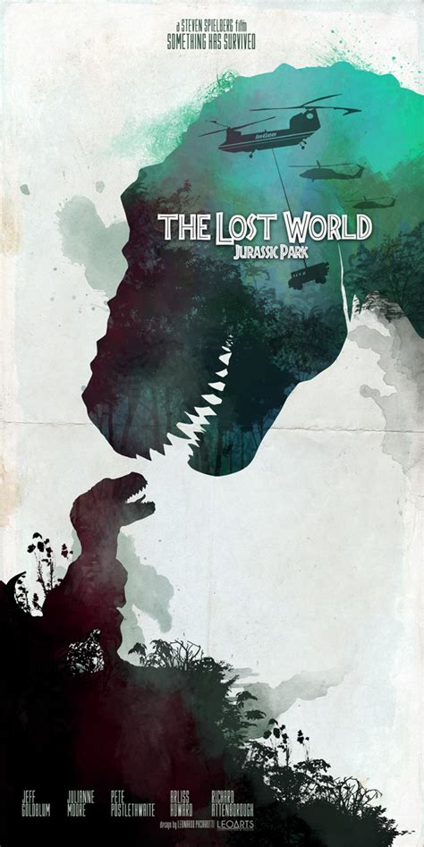 the lost world jurassic park leonardo paciarotti leoarts inspired movie poster 3