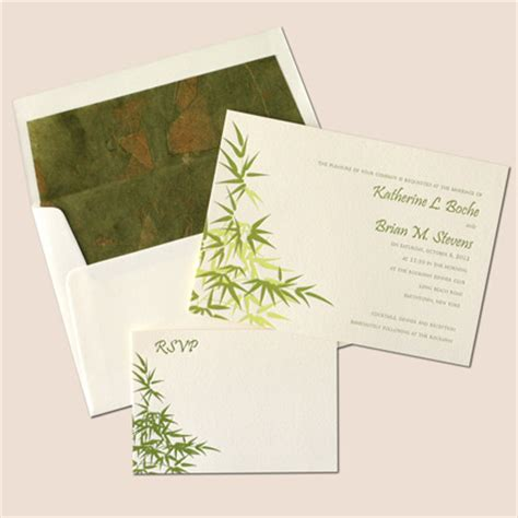 Bamboo Paper Wedding Invitations by Envelopes Liners Using Handmade Lokta Indian Papers