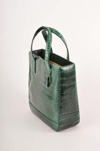 Coach Miranda Alligator Satchel by Coach Green Alligator Leather Handbag