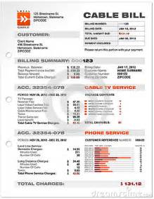 utility bill template cable service phone bill document sle template