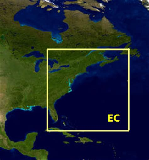 noaa coastwatch east coast node regions