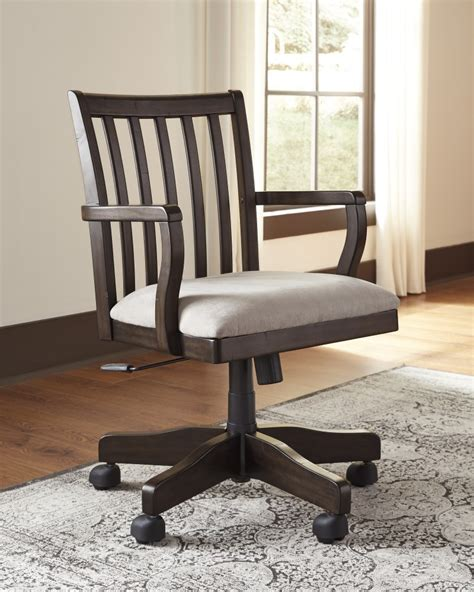 desk chairs for home office townser grayish brown home office swivel desk chair