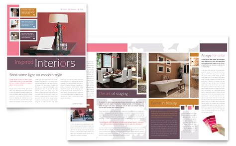 Home Interior Design Pdf Interior Designer Newsletter Template Design