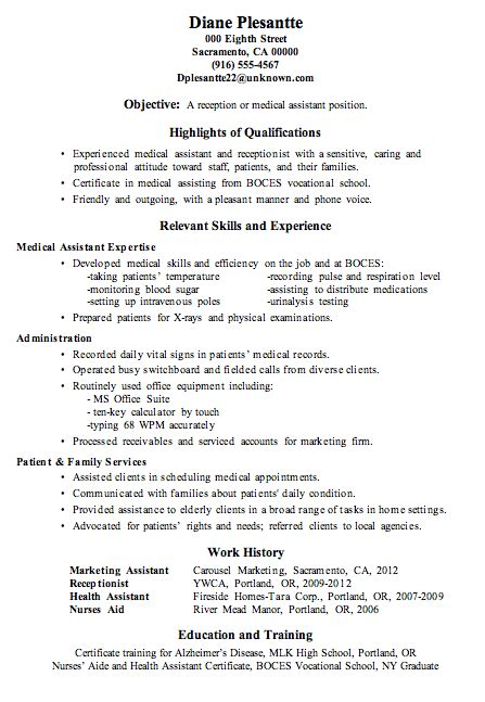 certified medical assistant resume sample free resumes tips