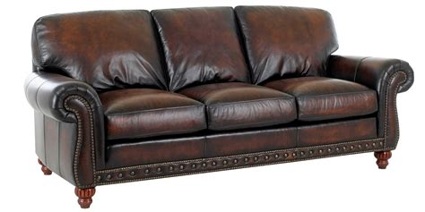 Traditional European Old World Leather Sofa Set Club Leather Upholstery Sofa
