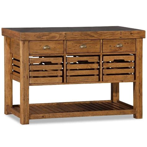 kitchen islands with drawers recycled timber portable kitchen island w 6 drawer buy