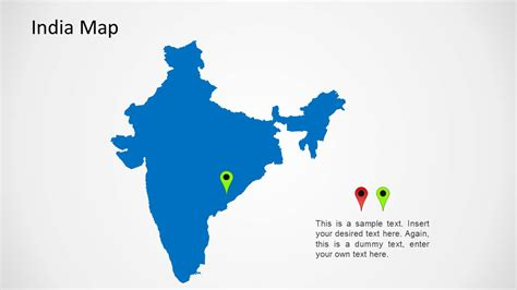 India Map For Powerpoint Slidemodel India Map Ppt Template