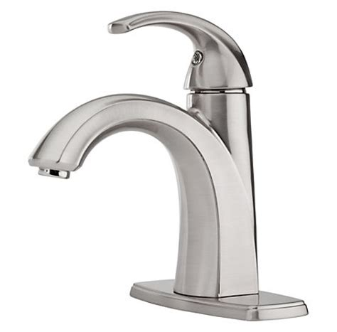 pfister selia bathroom faucet brushed nickel selia single control centerset bath faucet