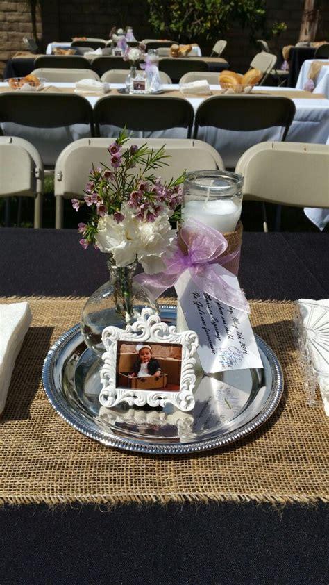 mariana s baptism centerpiece so easy and cheap dollar