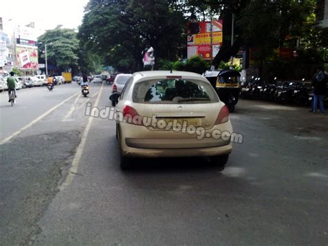 peugeot india spied peugeot 207 testing in pune india
