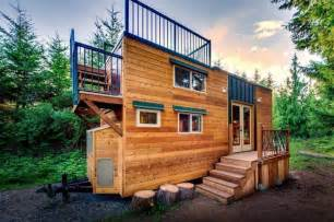 basecamp tiny home has huge roof deck built for mountain climbers treehugger