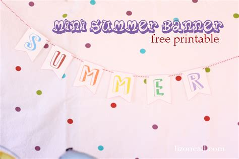 printable summer banner welcome summer party buckets liz on call
