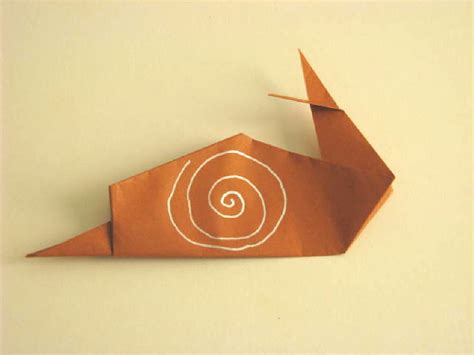 How To Make Origami Snail - origami origami snail