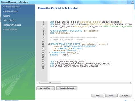 html tutorial review mysql workbench manual in creating a model