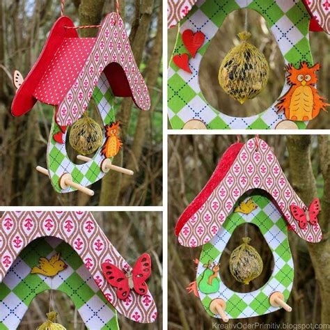 Vogelhaus Basteln Mit Kindern by Vogelhaus Mit Stoff Bekleben Acrylfarbe Bemalen Idee