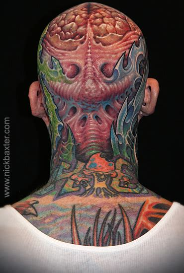 biomechanical tattoo austin tx jack vii by nick baxter tattoonow