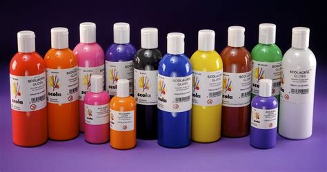 acrylic paint jugs acrylic craft paints bottles water based colours ebay