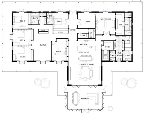 House Plans 6 Bedrooms | 17 best 6 bedroom house floor plans house plans 43867