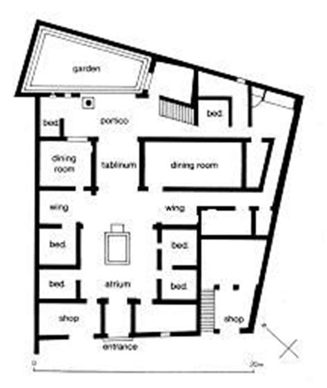 pompeii house plan plan of the house of the surgeon pompeii notice how the house is an irregular