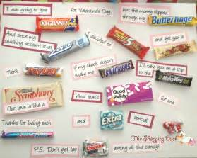 Valentine s day ideas candy bar sayings the shopping duck