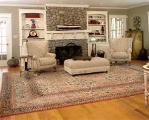 room setting soft tone rug in living room ferahan room setting
