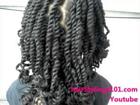 kinky twist on a child natural hair using marley braiding