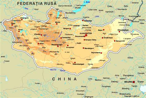 mongolia map mongolia continent map