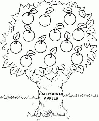 Apple Tree Coloring Page Coloring Part 2 Apple Tree Coloring Page