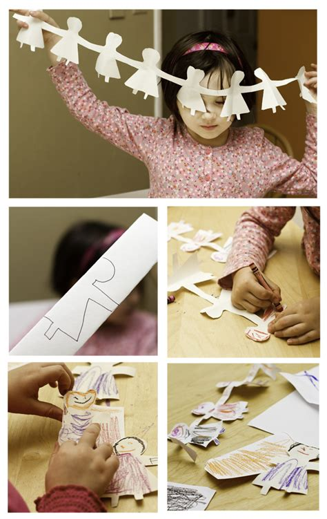 How To Make Paper Doll Chains - no monsters in my bed things to make paper doll chains