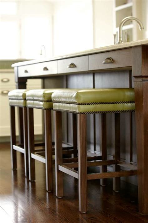 Green Kitchen Bar Stools by Furniture Modern Wood Kitchen Island With Green Leather